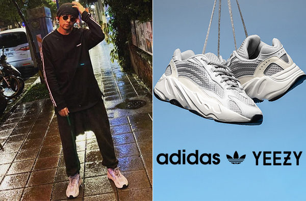 周杰倫率先上腳Adidas「YEEZY BOOST 700 V2」,銀白配色散發低調奢華感! | manfashion這樣變型男